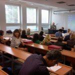 Конференцію відкриває директор Інституту англістики й американістики проф. Мілан Ференчик